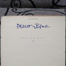 Discos de vinilo: DEACON BLUE – WAGES DAY. Lote 295737738