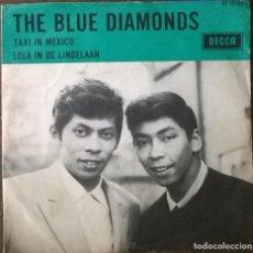 Discos de vinilo: BLUE DIAMONDS. TAXI IN MEXICO/ LOLA IN DE LINDELAAN. DECCA, HOLLAND 1966 SINGLE. Lote 295749433