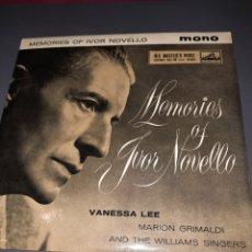 Discos de vinilo: MEMORIES OF IVOR NOVELLO,VANESSA LEE,MARION GRIMALDI.THE WILLIAMS SINGERS MICHAEL COLLINS ORCHESTRA. Lote 295753388