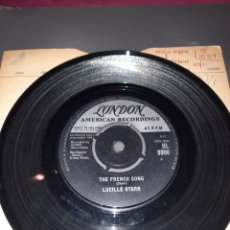 Discos de vinilo: SINGLE LUCILLE STARR. SIT DOWN AND WRITE A LETTER YO ME. THE FRENCH SONG. 1964 MADE IN ENGLAND. Lote 295754438