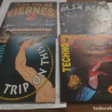 Discos de vinilo: LOTE -4- DISCOS-ROCK MIX-TECHNOTRONIC- POR FIN ES VIERNES 2- DOBLE LP-TECHNO DINOSAIRIUS DOBLE LP. Lote 295781198