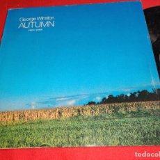 Discos de vinilo: GEORGE WINSTON AUTUMN PIANO SOLOS LP 1982 WINDHAM HILL ALEMANIA GERMANY. Lote 295790973