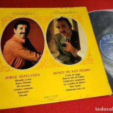 Discos de vinilo: JORGE SEPULVEDA + BONET DE SAN PEDRO NOSTALGICO ROMANTICO LP 1972 BELTER. Lote 295792813