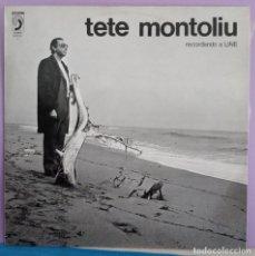 Discos de vinilo: TETE MONTOLIU - RECORDANDO A LINE - LABEL AZUL 1972. Lote 295794603