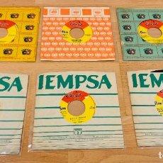 Discos de vinilo: THE BEATLES 6 SINGLES EDICION PERUANA BUEN ESTADO. Lote 295801508