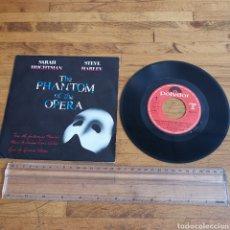 Discos de vinilo: DISCO DE VINILO THE PHANTOM OF THE OPERA SARA BRIGHTMAN Y STEVE HARLEY DE 1986. Lote 295807358