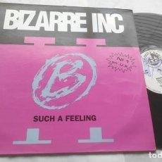 Discos de vinilo: BIZARRE INC – SUCH A FEELING-LP-ESPAÑA-1991-. Lote 295811383