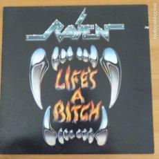 Discos de vinilo: RAVEN - LIFE´S A BITCH (LP) 1987. Lote 295820863