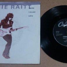 Discos de vinilo: BONNIE RAITT / THING CALLED LOVE / SINGLE 7 PULGADAS. Lote 295823763
