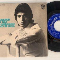 Discos de vinilo: SINGLE EP EL CAMARÓN DE LA ISLA BUSCO YO MI SOLEA. Lote 295826133