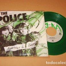 Discos de vinilo: THE POLICE - MESSAGE IN A BOTTLE - SINGLE VERDE - 1979 - IMPORT. Lote 295828388