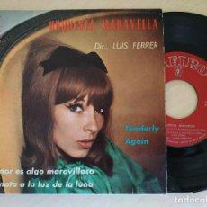 Discos de vinilo: ORQUESTA MARAVELLA - TENDERLY / AGAIN / EL AMOR ES ALGO MARAVILLOSO + 1 (EP 1963) BUEN ESTADO. Lote 295829248