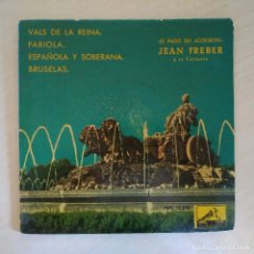 Discos de vinilo: JEAN FREBER - EL MAGO DEL ACORDEON - VALS DE LA REINA +3 RARO EP DE 1960 - VINILO COLOR AZUL. Lote 295835333