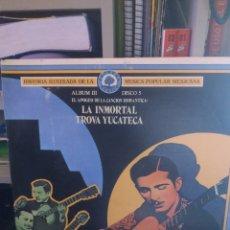 Discos de vinilo: DOBLE LP EL APOGEO DE LA CANCIÓN ROMÁNTICA : LA INMORTAL TROVA YUCATECA/LOS GRANDES TRÍOS. VER.... Lote 295838848