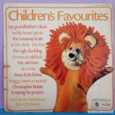 Discos de vinilo: CHILDRENS FAVOURITES - JESSIE MATTHEWS - JON PERTWEE. Lote 295852728