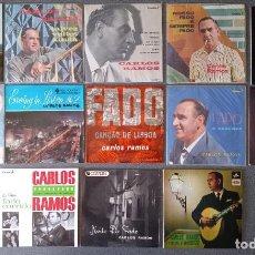 Discos de vinilo: LOTE VINILOS CARLOS RAMOS FADO CON AUTOGRAFOS DEL CANTANTE. Lote 295863253