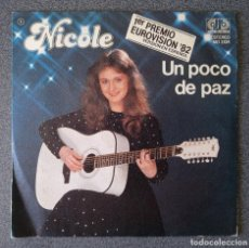 Discos de vinilo: VINILO NICOLE UN POCO DE PAZ. Lote 295863663