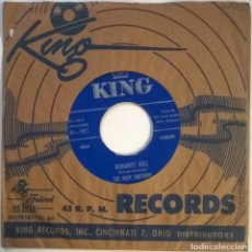 Discos de vinilo: THE ROCK BROTHERS. LIVIN' IT UP/ DUNGAREE DOLL. KING, USA 1955 SINGLE. Lote 295868918