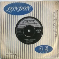 Discos de vinilo: NEIL SEDAKA. RING A ROCKING'/ FLY DON'T FLY ON ME. LONDON, UK 1959 SINGLE. Lote 295871483