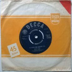 Discos de vinilo: BILLY FURY. SLEEPLESS NIGHTS/ I'D NEVER FIND ANOTHER YOU. DECCA, UK 1961 SINGLE. Lote 295874538