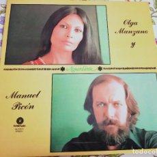 Discos de vinilo: OLGA MANZANO Y MANUEL PICÓN – AGUARDIENTE.1977. FONOMUSIC 84.2165/5. NUEVO. MINT / MINT. Lote 295877038