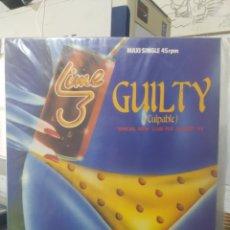 Discos de vinilo: LIME 3 - GUILTY (SPECIAL NEW CLUB-MIX) - MAXI-SINGLE SPAIN 1983. Lote 295878738