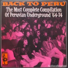 Discos de vinilo: BACK TO PERU VOLUMEN 1 2 LPS NUEVOS. Lote 295881668