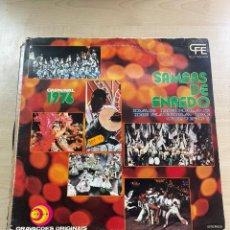 Discos de vinilo: SAMBAS DE ENREDO. Lote 295885758