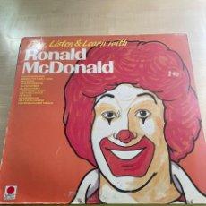 Discos de vinilo: RONALD MCDONALD. Lote 295886168