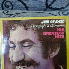 Discos de vinilo: JIM CROCE – PHOTOGRAPHS & MEMORIES: HIS GREATEST HITS. Lote 295907723