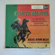 Discos de vinilo: MIGUEL ACEVES MEJIA - LA VERDOLAGA +3 - RARO EP PROMO RCA DE 1958 (MUESTRA, PROHIBIDA SU VENTA). Lote 295913148