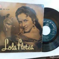 Discos de vinilo: LOLA FLORES: NO VAYAS NIÑA, LA NIÑA DE LA VENTA, CANCIÓN DEL RÍO, PILARICA Y MACARENA. Lote 295923068