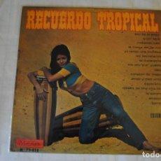 Discos de vinilo: RECUERDO TROPICAL. 1968. MUSIDISC LP. DIFÍCIL. Lote 295926488