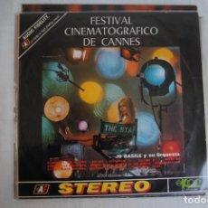 Discos de vinilo: FESTIVAL CIBEMATOGRÁFICO DE CANNES. LP EKIPO 1970.. Lote 295935538