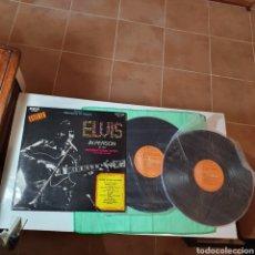 Discos de vinilo: LP-5. X 2 - ELVIS PRESLEY - IN PERSON AT THE INTERNATIONAL HOTEL, RCA VICTOR LSP- 6020 ESPAÑA 1970.. Lote 295941733