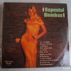 Discos de vinilo: ESPECIAL RUMBAS . OLYMPO 1976. SEXY COVER. LP. Lote 295943228