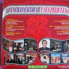 Discos de vinilo: LP - MANOLO ESCOBAR - Y SUS PELICULAS (SPAIN, BELTER 1970, VER FOTO ADJUNTA). Lote 295961878