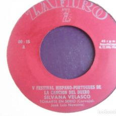 Discos de vinilo: SILVANA VELASCO - TOMARTE EN SERIO +1 - SG ZAFIRO 1964 - FESTIVAL CANCION DUERO - POP YE YE 60'S. Lote 295975693