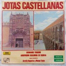 Discos de vinilo: JOTAS CASTELLANAS.HERMANOS YUGUERO.AGRUPACION FOLKRORICA SEGOVIA.VAQUERIZO Y CASTA. LP ORIGINAL. Lote 295976368
