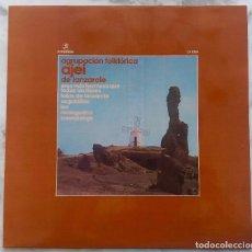 Discos de vinilo: AGRUPACION FOLKRORICA AJEI DE LANZAROTE. LP ORIGINAL 1974. Lote 295978688