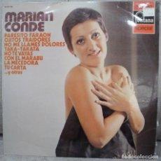 Discos de vinil: MARIAN CONDE - MARIAN CONDE (LP FONTANA 1972) VINILO EN BUEN ESTADO. Lote 295980628