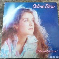 Discos de vinilo: CÉLINE DION - UN SOLEIL AU COEUR ******** LP EN FRANCÉS 1983. Lote 295981388