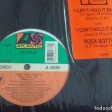 Discos de vinilo: MX. K-SOLO - I CANT HOLD IT BACK. Lote 295983438