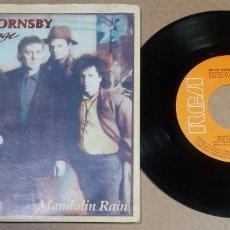 Discos de vinilo: BRUCE HORNSBY AND THE RANGE / MANDOLIN RAIN / SINGLE 7 PULGADAS. Lote 295984243