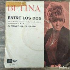 Discos de vinilo: BETINA - EL TIEMPO HA DE PASAR **** RARO SINGLE VERSIÓN MAUREEN EVANS FESTIVAL BENIDORM 1967. Lote 295984618