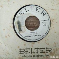Discos de vinilo: LOLA FLORES Y ANTONIO GONZALEZ - EL ESCÁNDALO **** RARO SINGLE PROMOCIONAL 1964. Lote 295985088
