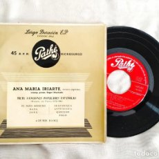 Discos de vinilo: FALLA: SIETE CANCIONES - ANA MARÍA IRIARTE - VINILO / EP / 45 RPM. Lote 295995638