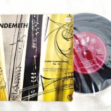 Discos de vinilo: HINDEMITH: KLEINE KAMMERMUSIK, OP. 24 - VINILO / EP / 33 RPM. Lote 295996423