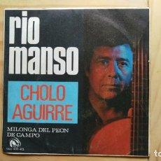 Discos de vinilo: CHOLO AGUIRRE – RIO MANSO. Lote 295997238