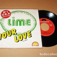 Discos de vinilo: LIME - YOUR LOVE (TU AMOR) Nº 1 USA - SINGLE - 1982. Lote 272160268